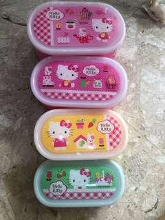 Authentic Hello Kitty Microwavable Container set of 4