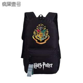 (7Col) Unisex Harry Potter Canvas Backpack