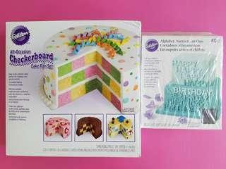 Cake pan set + alphabet / number cut-outs