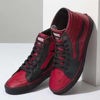 Vans Sk8-hi x Deadpool Shoes US size 4