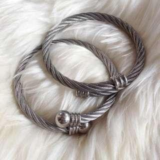 Charriol Inspired Cable Bangles