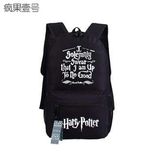 (7Col) Harry Potter I Solemnly Swear That I Am Up To No Good Canvas School Backpack
