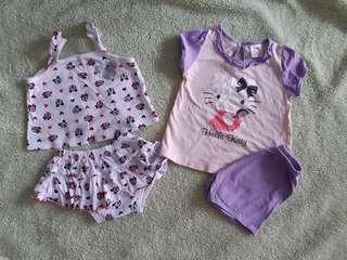 Disney and Hello Kitty cloth sets (2sets)