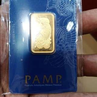 PAMP 24k-23.33g -(999.9) Purity 2 Tolas -S$1350