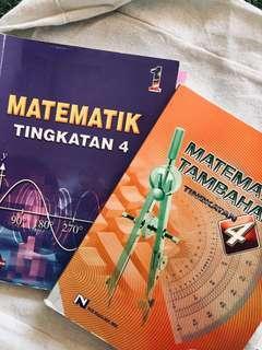Maths and add maths spm textbooks/ spm reference books