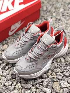 Nike Air Monarch the M2K Tekno 銀紅色 3M反光 復古跑步鞋 女鞋