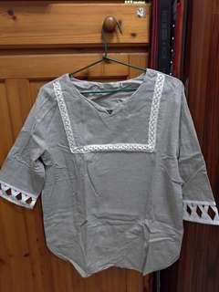 🚚 洋裝型 7分袖T