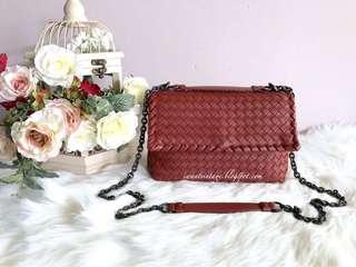 Bottega Veneta Small Olimpia Bag-Red