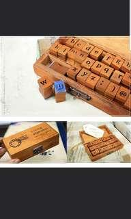 Alphabet Letter Rubber Stamps Lower Case