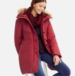 Unique ultra warm down short coat