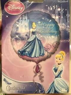 Party balloon . Frozen balloon. Cinderella balloon. Happy birthday