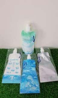 Botol lipat hydration pouch BPA free with carrabiner