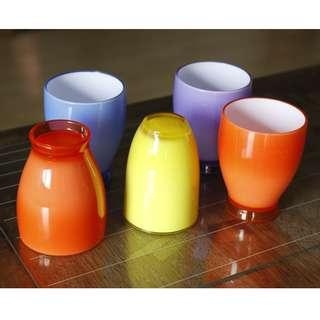 Colourful Plastic cups