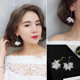 White Floral Earring