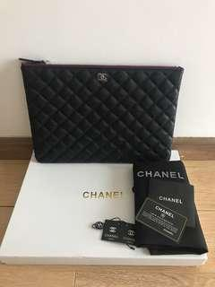 Chanel caviar large O case for let go!!