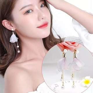 Floral Tassel Pearl Earring