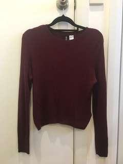 Wine knitted sweater