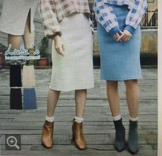 🚚 Lulus米白厚開叉針織裙
