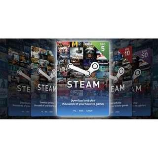 🚚 Steam Wallet Code (SGD) S$5/10/20/30/50
