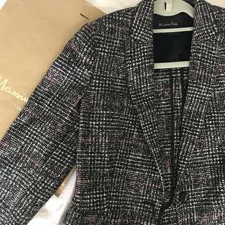 Massimo Dutti Tweed / wool coat jacket