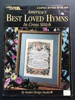 Cross Stitch book - Best Loved Hymns