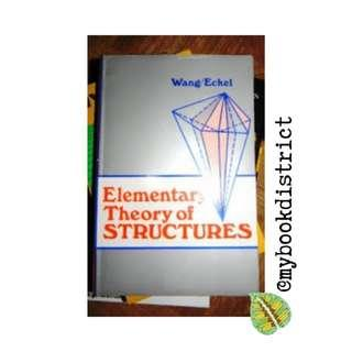Elementary Theory of Structures by Wang/Eckel