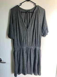 Mango Slouchy Gray Dress