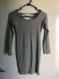 Topshop Gray Dress