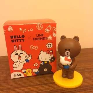 🚚 Hello Kitty x Line Friends 公仔 no.6