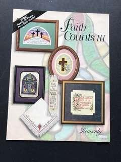 Cross Stitch book - Faith Counts