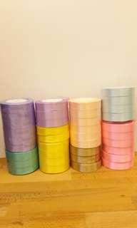 Satin Ribbon Roll 2cm  (8 Colors)