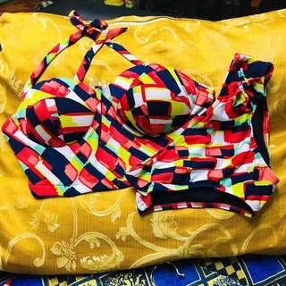 Patterned bikini set