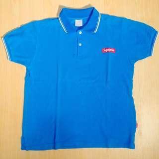 Kaos Polo Supreme polo Shirt Biru