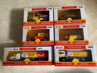 ( FULL SET )Shell Through the Decades, Fuel Tanker Collection