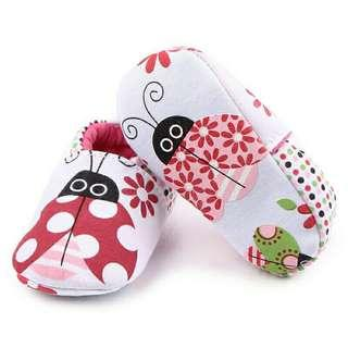 Lady Bug Baby Shoes (0-6)