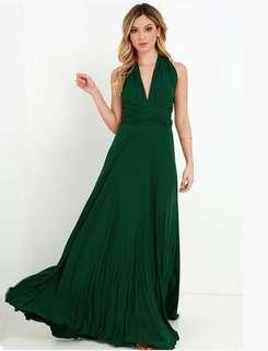 Infinity dress emerald green
