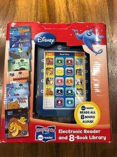 迪士尼英文故事書8本和發聲閲讀器