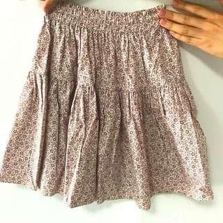 Sweet pink flowery skirt