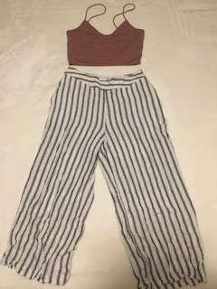 Ally wide leg striped pant