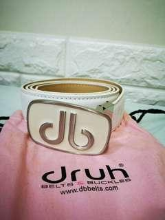 Druh Belts & Buckles White leather belts 100% new