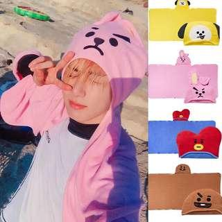 BT21 Unofficial Hooded Towel