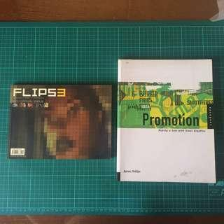 2 Items/ Book/ Magazine, Promotion With Great Graphics Renee Philips, Flip, Used