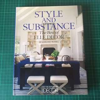 1 Item, Coffee Table Book, Style And Substance, The Best of Elle Decor By Margaret Russell and The Editors of Elle Decor