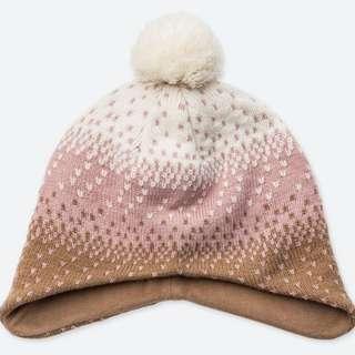 c3b42e6ce90 Heattech knitted cap ear cover