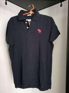 Abercrombie & fitch dark blue polo tee