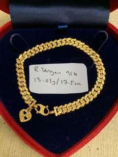 Rantai Tangan emas 916