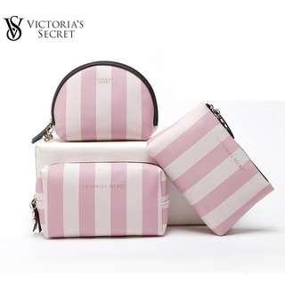 Victoria's Secret Stripes Pouch/Makeup Storage