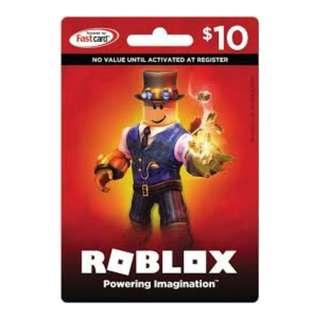 Roblox Gift/Game Code ( US$5/10/20/25/50) via rixty