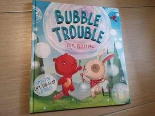New Bubble Trouble Hardcover Lift-the-flap children story book #CNY888
