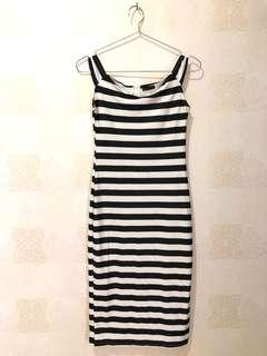 Stripe Dress fit body